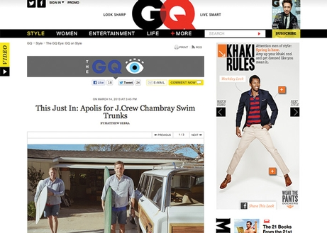 GQ - J.Crew Collaboration - March 2013