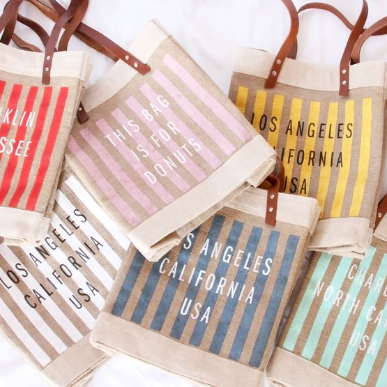 Collaboration: YOLO Journal's Customizable Striped Petite Market Bag, Now Available