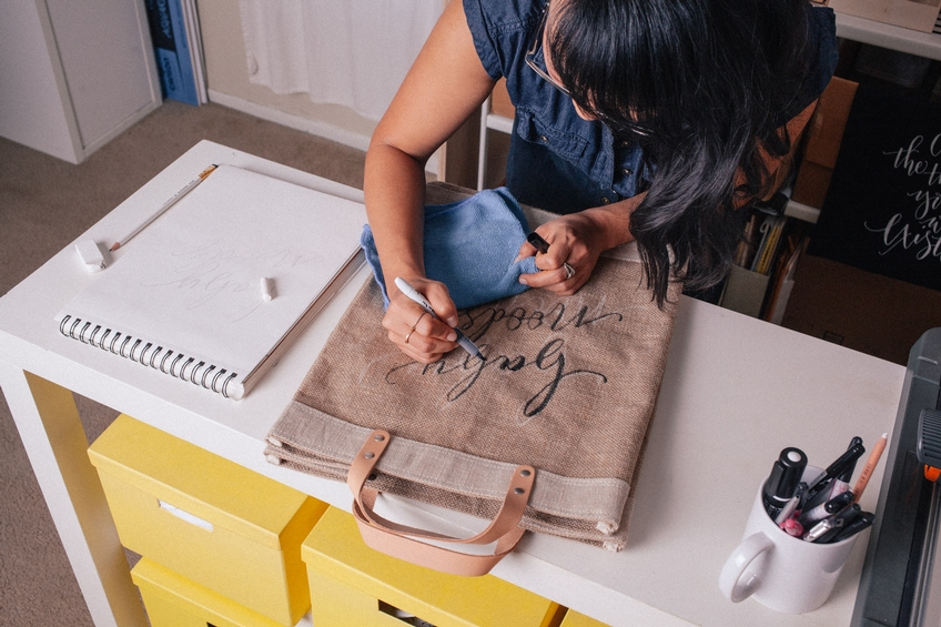 Collaboration: Customizable Calligraphy Bags, Available December 8